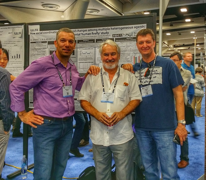 Dr. Kelso (middle) with former postdocs Dr. Attila Kovacs (left) and Dr. Slava Murzin (right) .