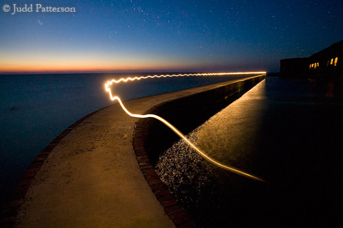 Walking with a flashlight, Dry Tortugas National Park